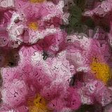 Flower graffiti mosaic generated texture Stock Photography