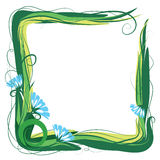 Flower and grass frame Stock Photos