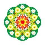 Flower green vector mandala royalty free illustration