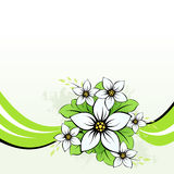 Flower with green wave Royalty Free Stock Images