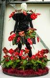 Flower greenhouse, floristic decor elements close-up. Keukenhof is the world's largest flower garden. KEUKENHOF GARDEN, NETHERLANDS - MARCH 24: Flower royalty free stock photos