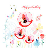 Flower Greeting Card Royalty Free Stock Images