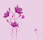 Flower greeting card. Greeting card with a flower.vector illustration royalty free illustration