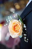 Flower on groom's suit Stock Images