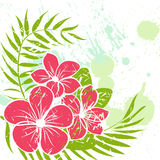 Flower grunge background Stock Photo