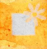 Flower on grunge background Royalty Free Stock Photos