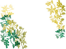 Flower Grunge Background. A Background illustration of flowers and vines with a gradient Royalty Free Stock Photography