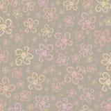 Flower Grunge Pastel Background. A fun artistic textured background with pastel grunge flowers Stock Photo