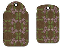 Flower Grunge Tags. A couple of pretty grunged flower hang tags Royalty Free Stock Images