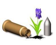 Flower on gunpowder. Stock Photography