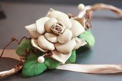 Flower hair clip for bride. A flower hair clip for women royalty free stock photos