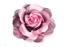 A flower hair clip for women. A pink flower hair clip for women on isolated white background with vector path Royalty Free Stock Photo