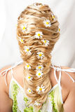 Flower hairdress of the girl Royalty Free Stock Image