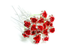 Flower hairpin. On a white background Royalty Free Stock Image