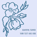 Flower hand-drawn sketch for your design.  Royalty Free Stock Images