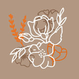 Flower hand-drawn sketch for your design.  Stock Image