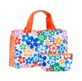 Flower pattern handbag isolated  Royalty Free Stock Image
