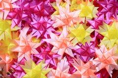 Flower handmade from ribbon Stock Photos