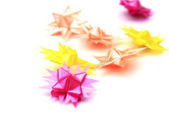 Flower handmade from ribbon colorful Stock Photography