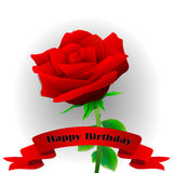 Flower. Happy Birthday! Royalty Free Stock Photos