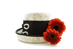 Flower hat royalty free stock image