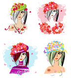 Flower hats Stock Photo
