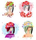 Flower hats Stock Photo