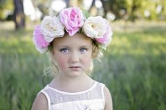 Flower Headband Girl Stock Photos