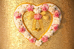 Flower heart. A heart with flower on box Royalty Free Stock Photos