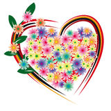 Flower heart. For the beloved Royalty Free Stock Photos