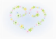 Flower heart. Illustration of flower heart in pastel colors royalty free illustration