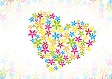 Flower heart Stock Photography
