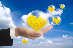 Flower heart. Royalty Free Stock Images