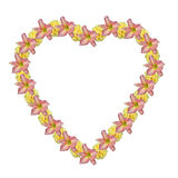 Flower heart. Isolated Flower Heart Royalty Free Stock Image