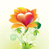 Flower heart. And green world Stock Photo