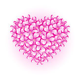 Flower heart. Isolated, , eps 8 format Stock Photography