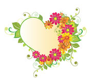 Flower heart. Floral flower heart Royalty Free Stock Photography