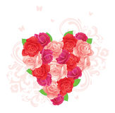Flower heart. Flower red heart, vector illustration Royalty Free Stock Image