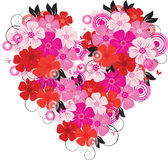 Flower Heart. Flower color Heart - vector illustration Royalty Free Stock Images
