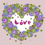 Flower heart of air for valentines day stock illustration