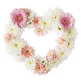 Flower Heart Border. Flowers on a white background Stock Image