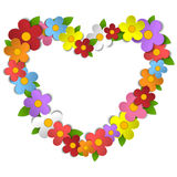 Flower Heart Bouquet Spring Background Royalty Free Stock Photo