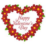 Flower Heart Bouquet Spring Background Stock Photo