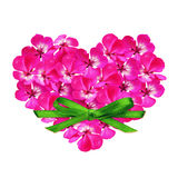 Flower heart and a bow Royalty Free Stock Photo