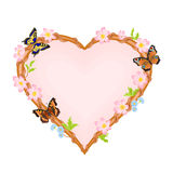 Flower heart. Fower heart vector illustration eps 8 without gradients Stock Image