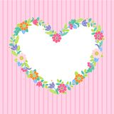 Flower heart frame Stock Images