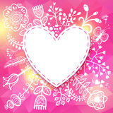 Flower Heart frame. Vector illustration, can be used as creating Royalty Free Stock Images