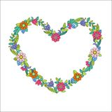 Flower heart frame Stock Image