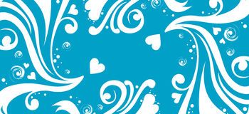 Flower and heart pattern Royalty Free Stock Photo