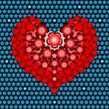 Flower heart Stock Images